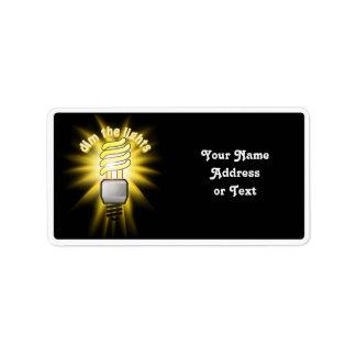 Dim The Energy Saving Light Label