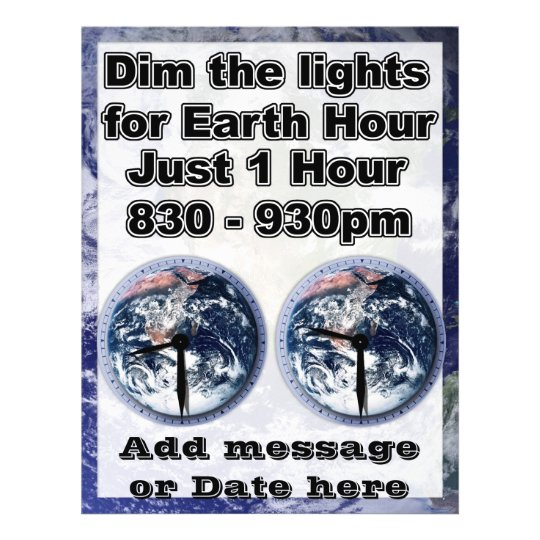 Dim The Lights For Earth Hour (Earth Open) Flyer