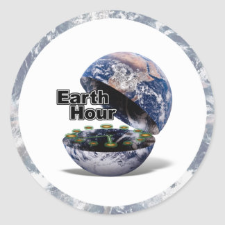 Dim The Lights For Earth Hour (Earth Open) Sticker