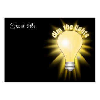 Dim the Lights - Lightbulb Business Card Template