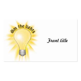 Dim the Lights - Lightbulb Business Card