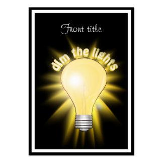 Dim the Lights - Lightbulb Business Card Templates