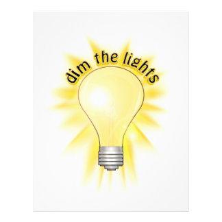 Dim the Lights - Lightbulb Flyer