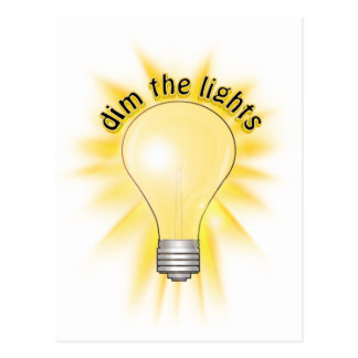 Dim the Lights - Lightbulb Postcard
