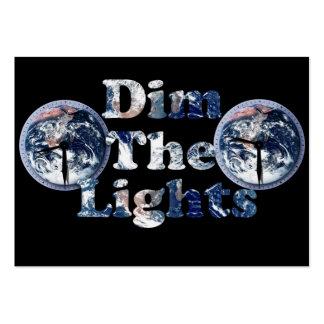 Dim The Lights Text Image w/Clocks Business Card