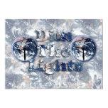 """Dim The Lights Text Image w/Clocks 5"""" X 7"""" Invitation Card"""