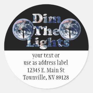 Dim The Lights Text Image w/Clocks Stickers