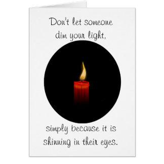 Dim your light card
