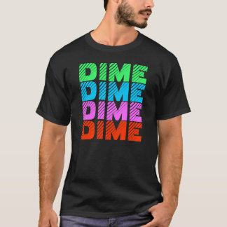 DIME flourescent rainbow T-Shirt