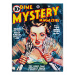 DIME MYSTERY Cool Vintage Pulp Magazine Cover Art Print