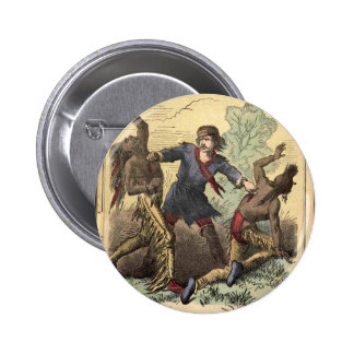 Dime Novel Kit Carson Button