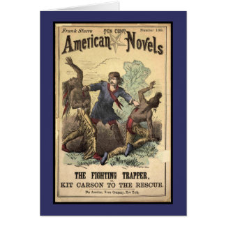 Dime Novel Kit Carson Card