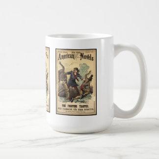 Dime Novel Kit Carson Classic White Coffee Mug
