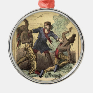 Dime Novel Kit Carson Metal Ornament