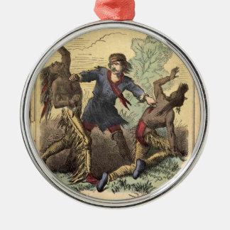 Dime Novel Kit Carson Metal Ornament