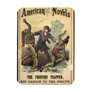 Dime Novel Kit Carson Rectangular Photo Magnet