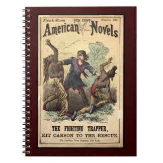 Dime Novel Kit Carson Spiral Notebook
