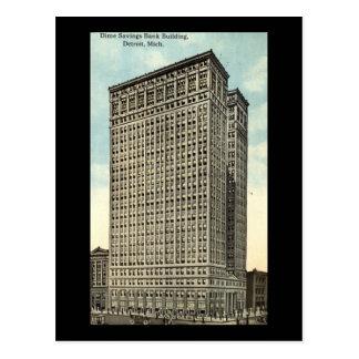Dime Savings Bank, Detroit 1913 Vintage Postcard