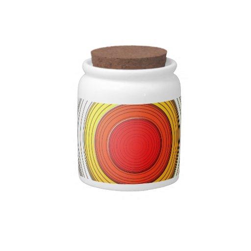 Dimension circle candy jars