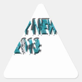 Dimensión del azul 3 de la Feliz Año Nuevo 2013 Colcomanias De Trianguladas