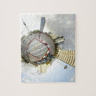 Dimensión global diaria abstracta puzzles con fotos
