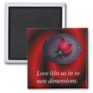 Dimension of Love 2 Inch Square Magnet