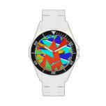 Dimensión triangular 1 relojes de pulsera
