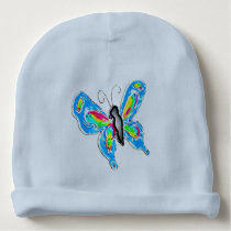 Dimensional Butterfly Baby Beanie