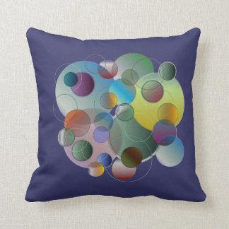 Dimensional Circles Throw Pillows