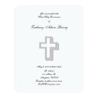 """Dimensional Cross"" Invitations 4.25"" X 5.5"" Invitation Card"