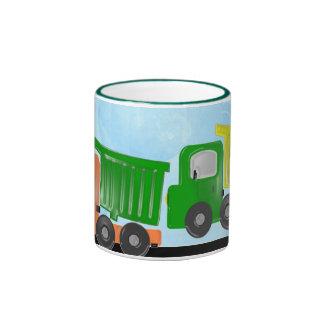 Dimensional Dump Trucks Mug