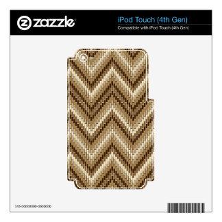 Dimensional Herringbone iPod Touch 4G Decals