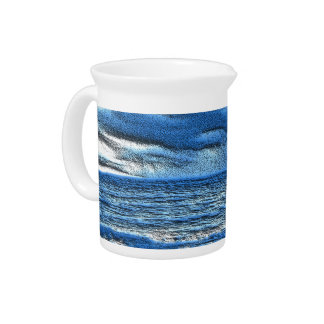 Dimensional Ocean Waves Beverage Pitcher