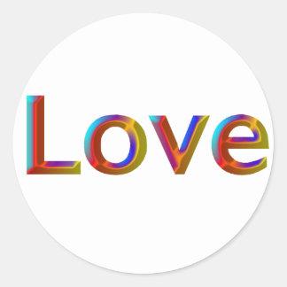 Dimensional Rainbow Love Stickers