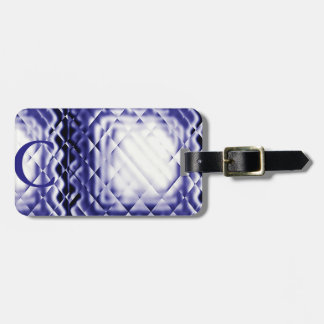 Dimensional Square-Navy-C Tag For Bags