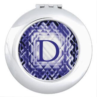Dimensional Square-Navy-D Makeup Mirror