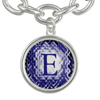 Dimensional Square-Navy-E Bracelets