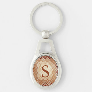 Dimensional Square-Red-S Keychain