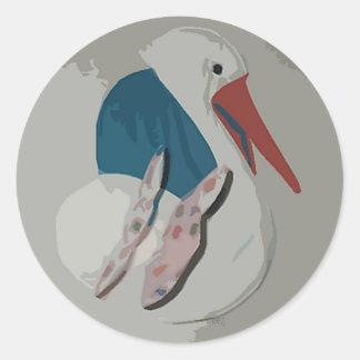 Dimensional Stork Sticker