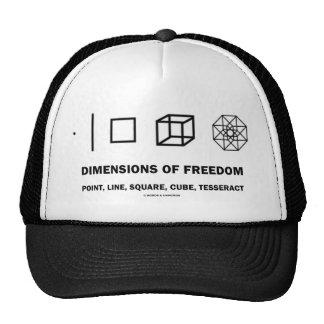 Dimensiones de la libertad (humor de la geometría) gorros bordados