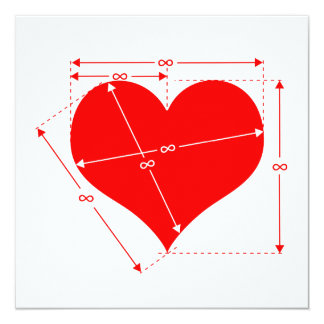 """Dimensiones del amor invitación 5.25"""" x 5.25"""""""