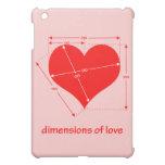 Dimensiones del amor iPad mini funda