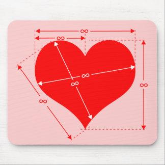 Dimensiones del amor tapetes de ratón