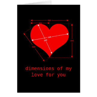 Dimensions of Love Greeting Card