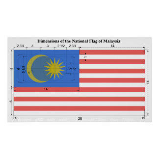 Dimensions of the National Flag of Malaysia Poster