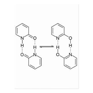 dimero de la sustancia química 2-Pyridone Tarjetas Postales
