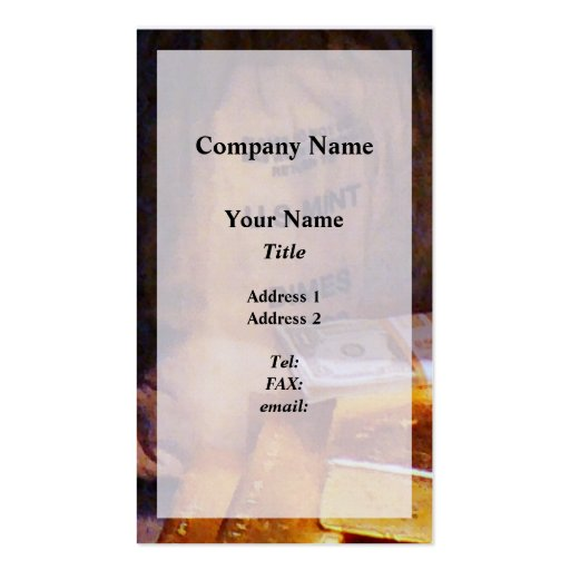 Dimes, Dollars and Gold Business Card Templates