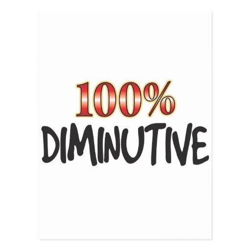 Diminutive 100 Percent Postcard