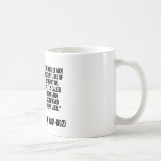 Dimisión de la desesperación de las vidas reservad tazas de café