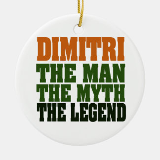 Dimitri, la leyenda adorno navideño redondo de cerámica
